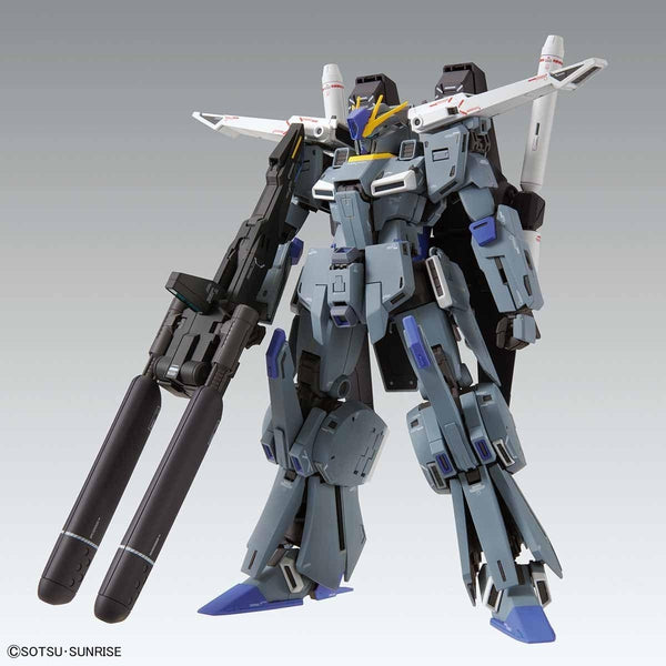 Bandai 1/100 MG FA-010A Fazz Ver.Ka action pose with weapon double missile pod
