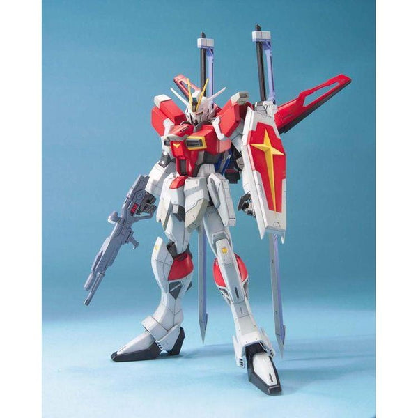 Bandai 1/100 MG  ZGMF-X56S/B Sword Impulse Gundam Z.A.F.T. Mobile Suit front on pose