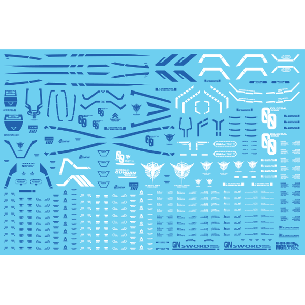 Delpi 1/100 MG 00 Raiser Water Slide Decal