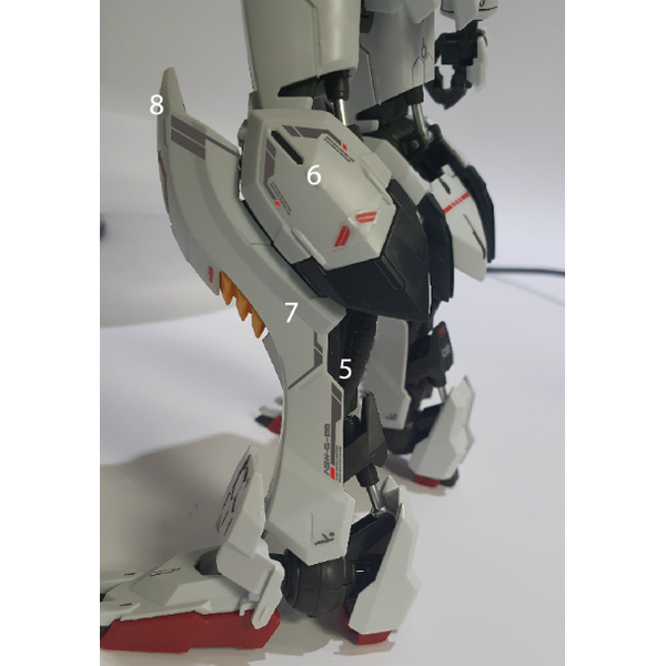 Delpi 1/100 MG Barbatos Water Slide Decal fitment 2