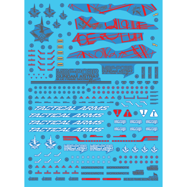Delpi 1/100 MG Astray Blue Frame 2nd Revise Water Slide Decal