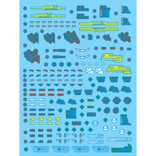 Delpi 1/100 MG Buster Gundam Water Slide Decal