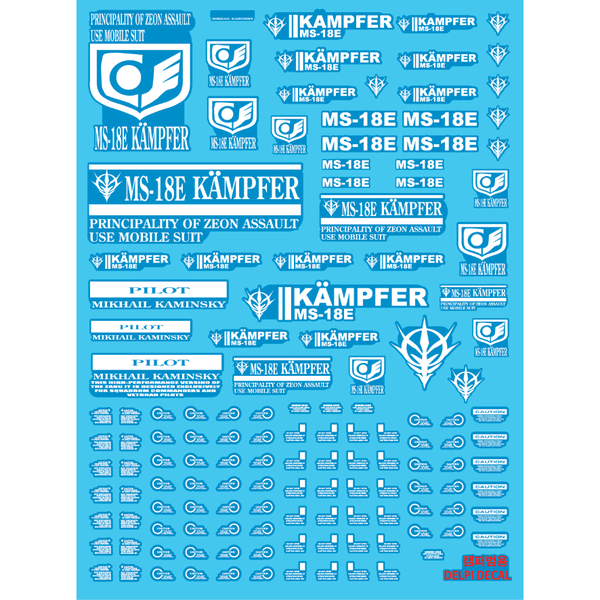 Delpi 1/100 MG Kampfer Luminous Water Slide Decal