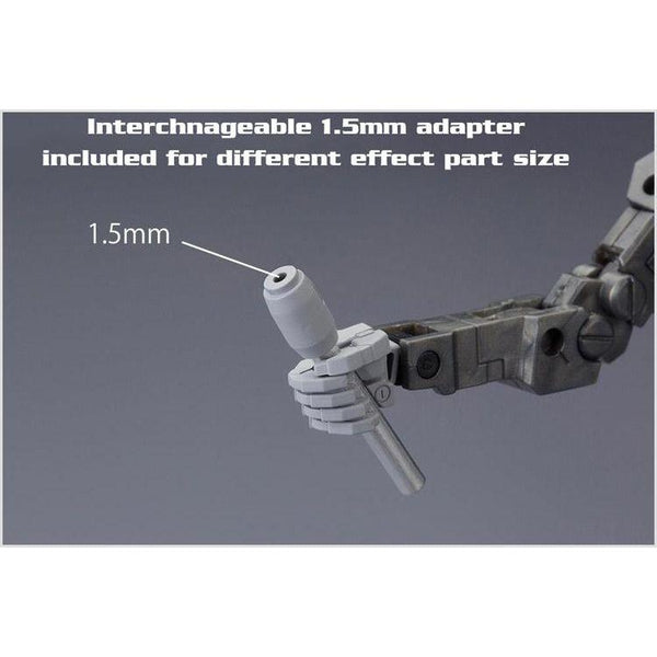 interchangeable adapter for different effect part size