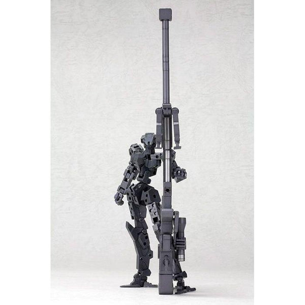 Kotobukiya M.S.G MH01R Heavy Weapon Strong Rifle next to 1/144 Scale figure