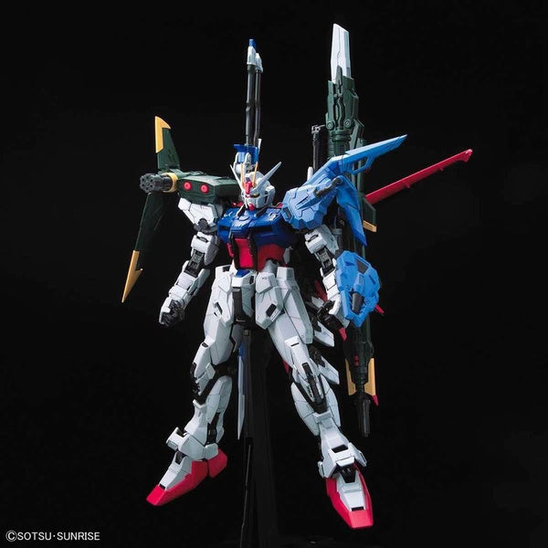 PRE-ORDER Bandai 1/60 PG Perfect Strike Gundam front on view.