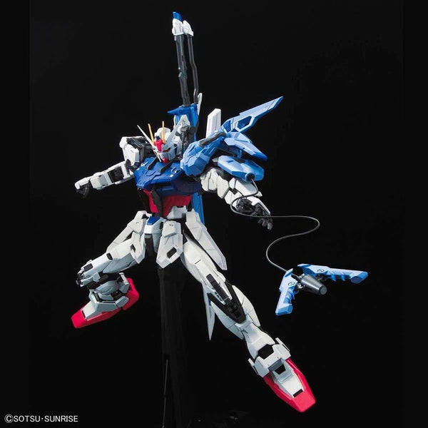 PRE-ORDER Bandai 1/60 PG Perfect Strike Gundam action pose  action pose with weapon. 3