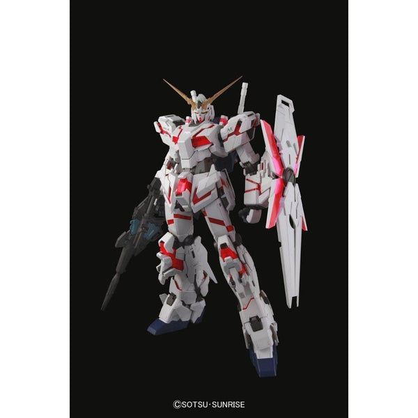Bandai 1/60 PG RX-0 Unicorn Gundam (without LED) front on pose with armour