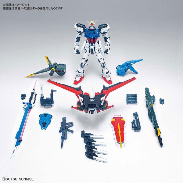 PRE-ORDER Bandai 1/60 PG Perfect Strike Gundam included accessories.