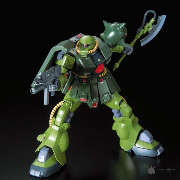 Bandai 1/100 RE MS-06FZ Zaku II Kai action pose 1