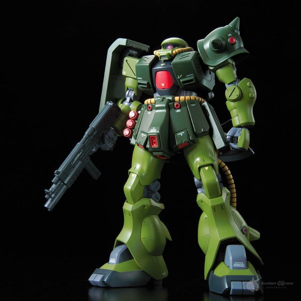 Bandai 1/100 RE MS-06FZ Zaku II Kai front on pose