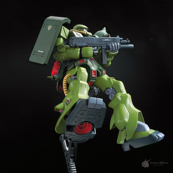 Bandai 1/100 RE MS-06FZ Zaku II Kai on action base