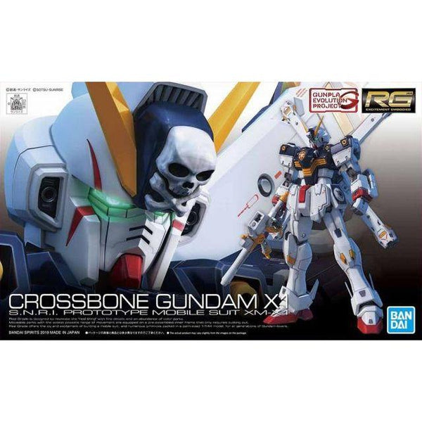 Bandai RG 1/144 XM-X1 Crossbone Gundam X1 package art