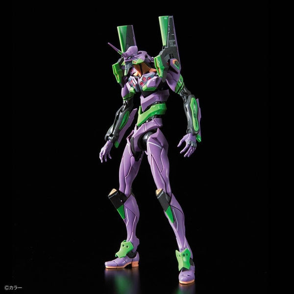 Bandai RG Evangelion Unit-01 Test Type  front on view.