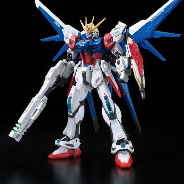 Bandai 1/144 RG Build Strike Gundam Full Package front on pose