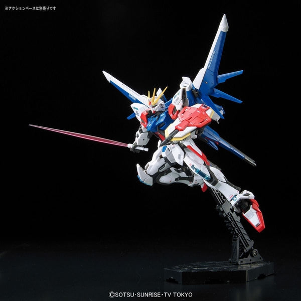 Bandai 1/144 RG Build Strike Gundam Full Package action pose