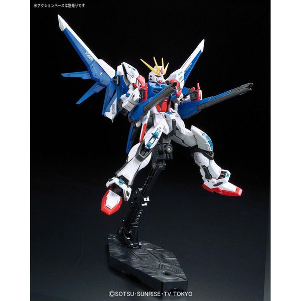 Bandai 1/144 RG Build Strike Gundam Full Package action pose 2