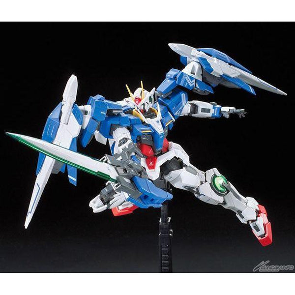 Bandai 1/144 RG 00 Raiser GN-0000+GNR-010 action pose 2