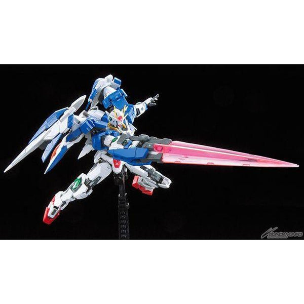 Bandai 1/144 RG 00 Raiser GN-0000+GNR-010 action pose 3