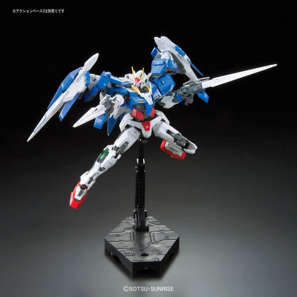 Bandai 1/144 RG 00 Raiser GN-0000+GNR-010 action pose 4