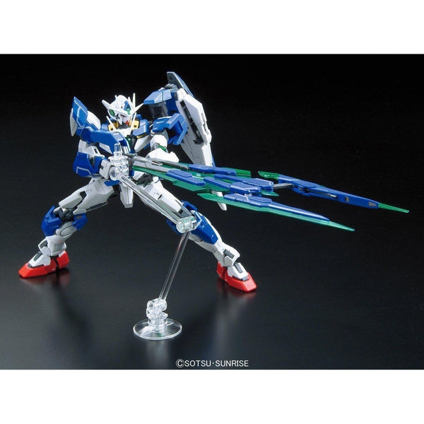 Bandai 1/144 RG 00 Qan[T] Celestial Being Mobile suit GNT-0000 action pose 1