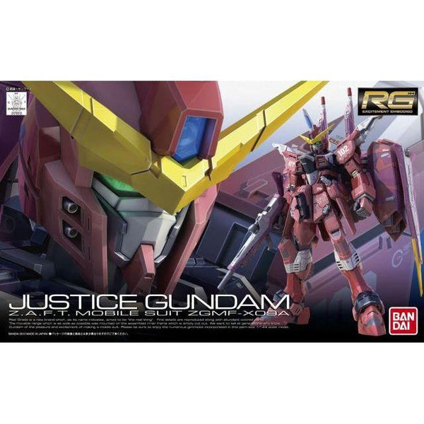 Bandai 1/144 RG Justice Gundam Z.A.F.T. Mobile Suit ZGMF-X09A package art