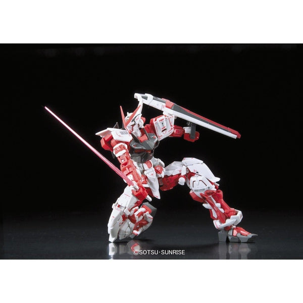 Bandai 1/144 RG Gundam Astray Red Frame Lowe Guele's Use Mobile Suit MBF-P02 on one knee
