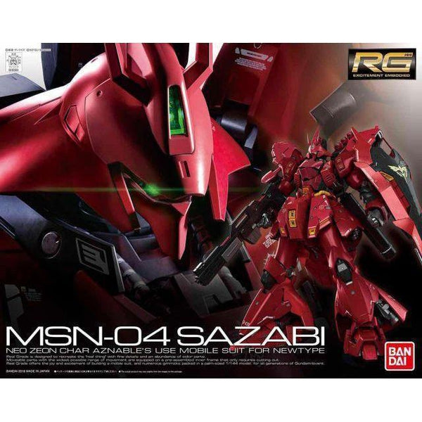 Bandai 1/144 RG Sazabi package art