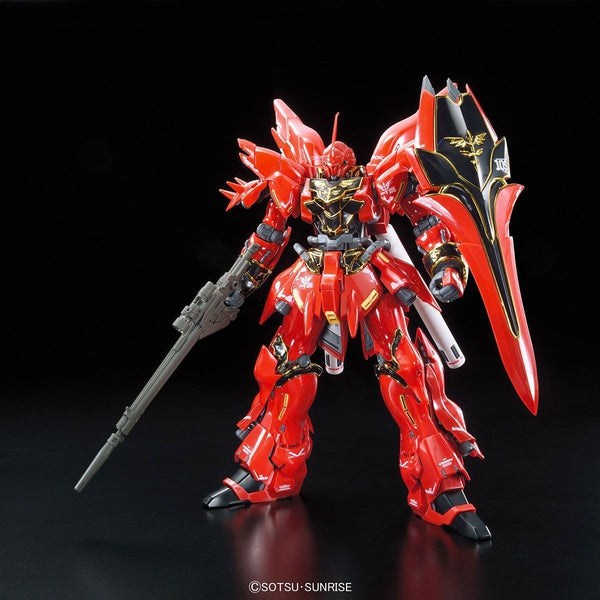 Bandai 1/144 RG Sinanju Neo Zeon Mobile Suit For Newtype MSN-06S front view