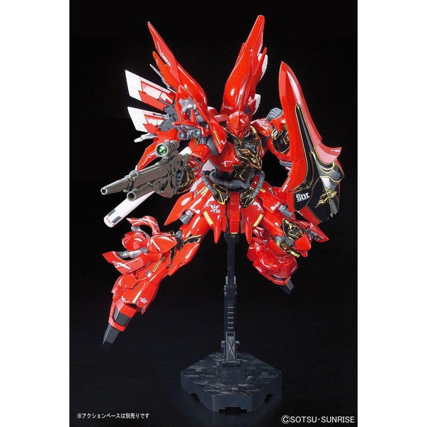 Bandai 1/144 RG Sinanju Neo Zeon Mobile Suit For Newtype MSN-06S action pose 1
