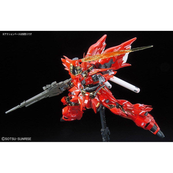 Bandai 1/144 RG Sinanju Neo Zeon Mobile Suit For Newtype MSN-06S action pose 3