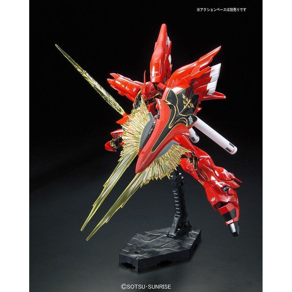 Bandai 1/144 RG Sinanju Neo Zeon Mobile Suit For Newtype MSN-06S action pose 5