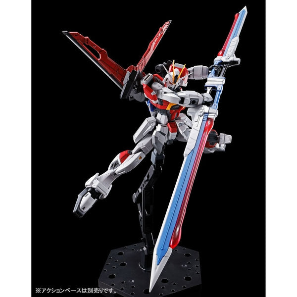 P-Bandai RG 1/144 Sword Impulse Gundam action pose with weapon.