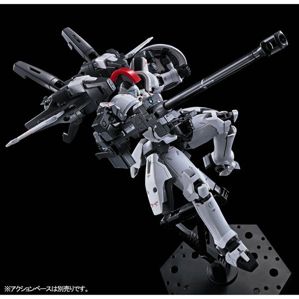 P-Bandai RG 1/144 Tallgeese TV Colours Ver action pose with weapon.