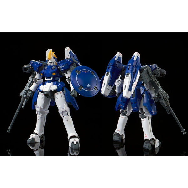 P-Bandai RG 1/144 Tallgeese II [Reissue] front on view & rear view.