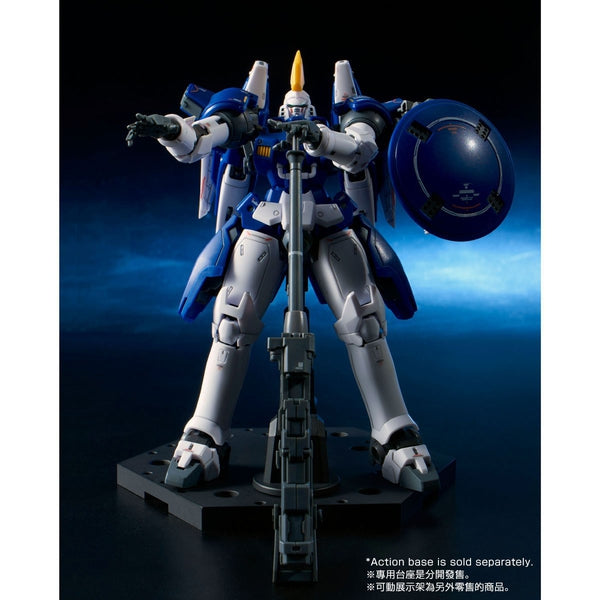 P-Bandai RG 1/144 Tallgeese II [Reissue] action pose with weapon.  2