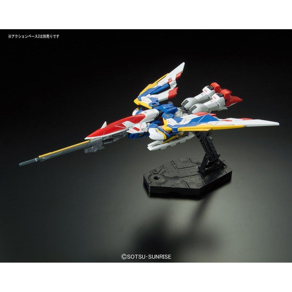 Bandai 1/144 RG XXXG-01W Wing Gundam EW action pose transformed flying