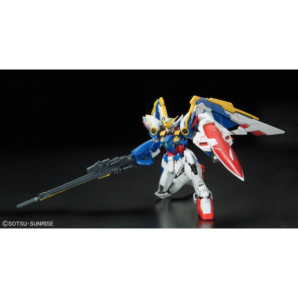 Bandai 1/144 RG XXXG-01W Wing Gundam EW action pose on knee