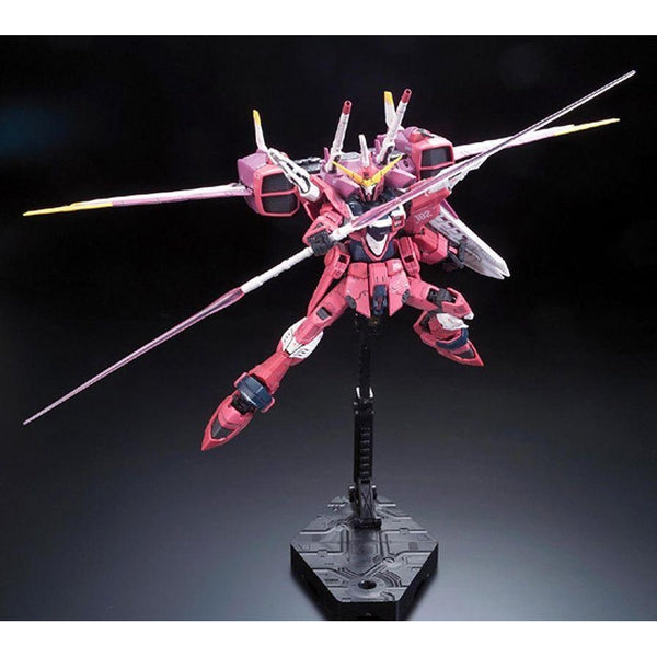 Bandai 1/144 RG Justice Gundam Z.A.F.T. Mobile Suit ZGMF-X09A action pose 2