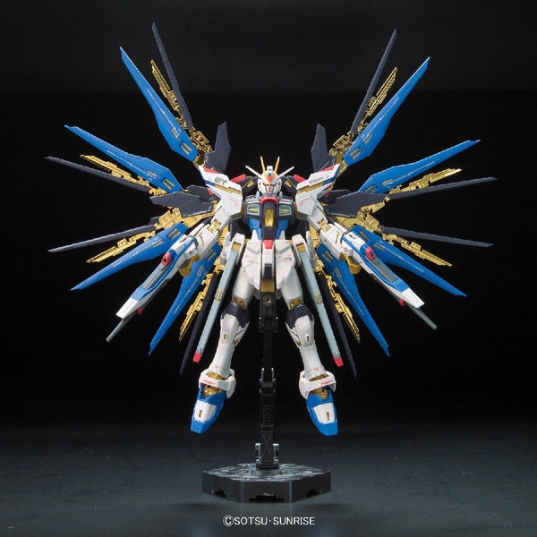 Bandai 1/144 RG Strike Freedom Gundam Z.A.F.T. Mobile Suit ZGMF-X20A wings spread front on