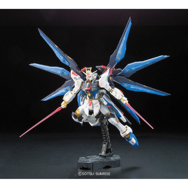 Bandai 1/144 RG Strike Freedom Gundam Z.A.F.T. Mobile Suit ZGMF-X20A action pose 3