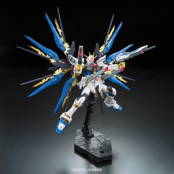 Bandai 1/144 RG Strike Freedom Gundam Z.A.F.T. Mobile Suit ZGMF-X20A action pose 5