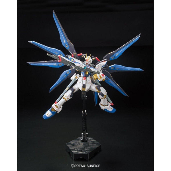 Bandai 1/144 RG Strike Freedom Gundam Z.A.F.T. Mobile Suit ZGMF-X20A action pose 6