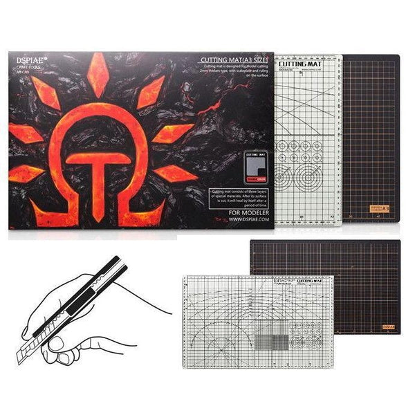 Dspiae Cutting Mat A3, 2mm Thick 3 Layer Self Healing