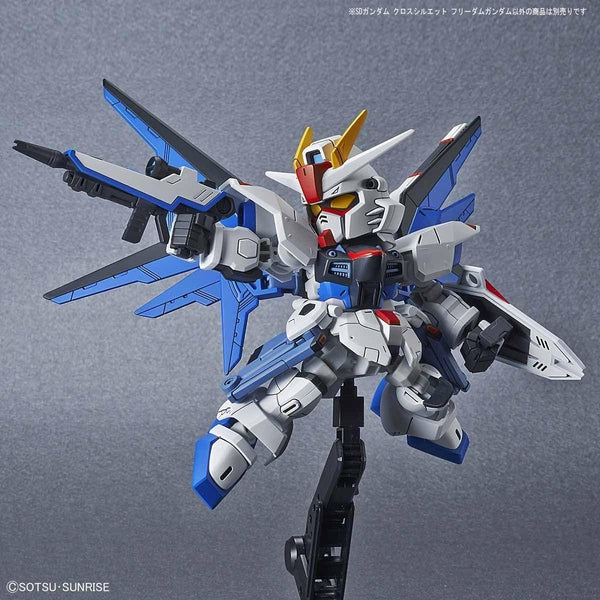 Bandai SD Gundam Cross Silhouette Freedom Gundam action pose