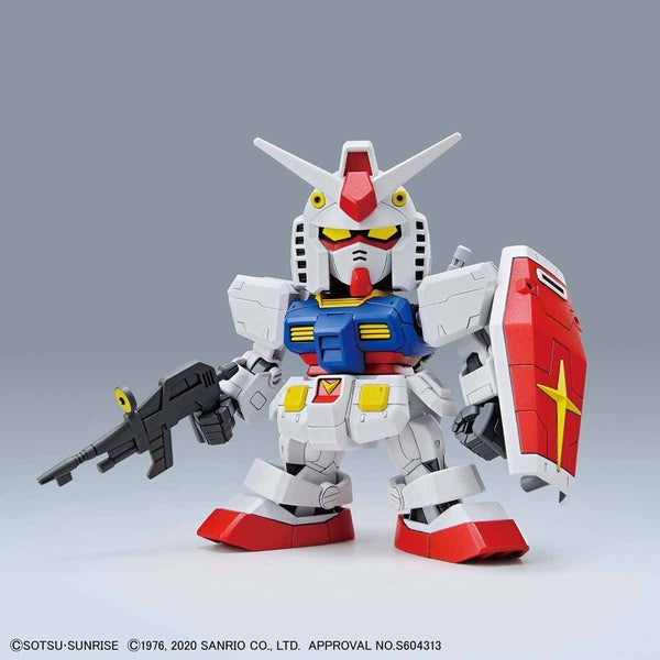 Bandai SD RX-78-2 Gundam front on view.