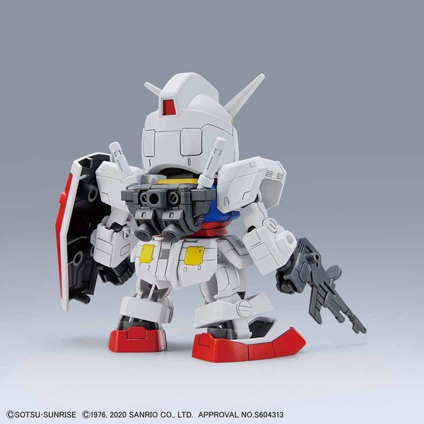 Bandai SD RX-78-2 Gundam rear view.