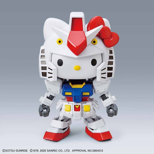 Bandai SD Hello Kitty/RX-78-2 Gundam morphing front on view.