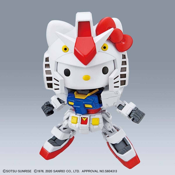 Bandai SD Hello Kitty/RX-78-2 Gundam action pose