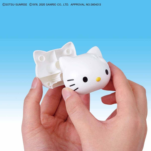 Bandai SD Hello Kitty/RX-78-2 Gundam putting kitty head together